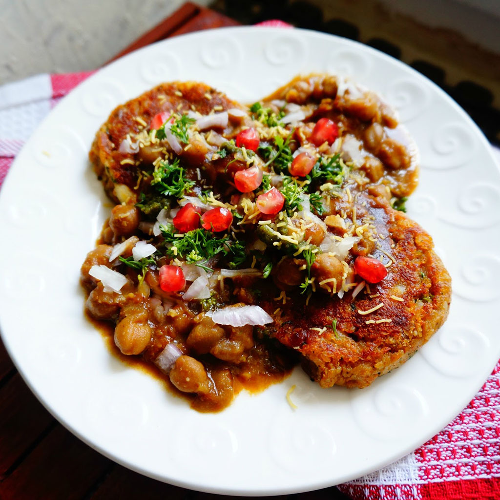 Aloo tikki chaat, Indian Oven