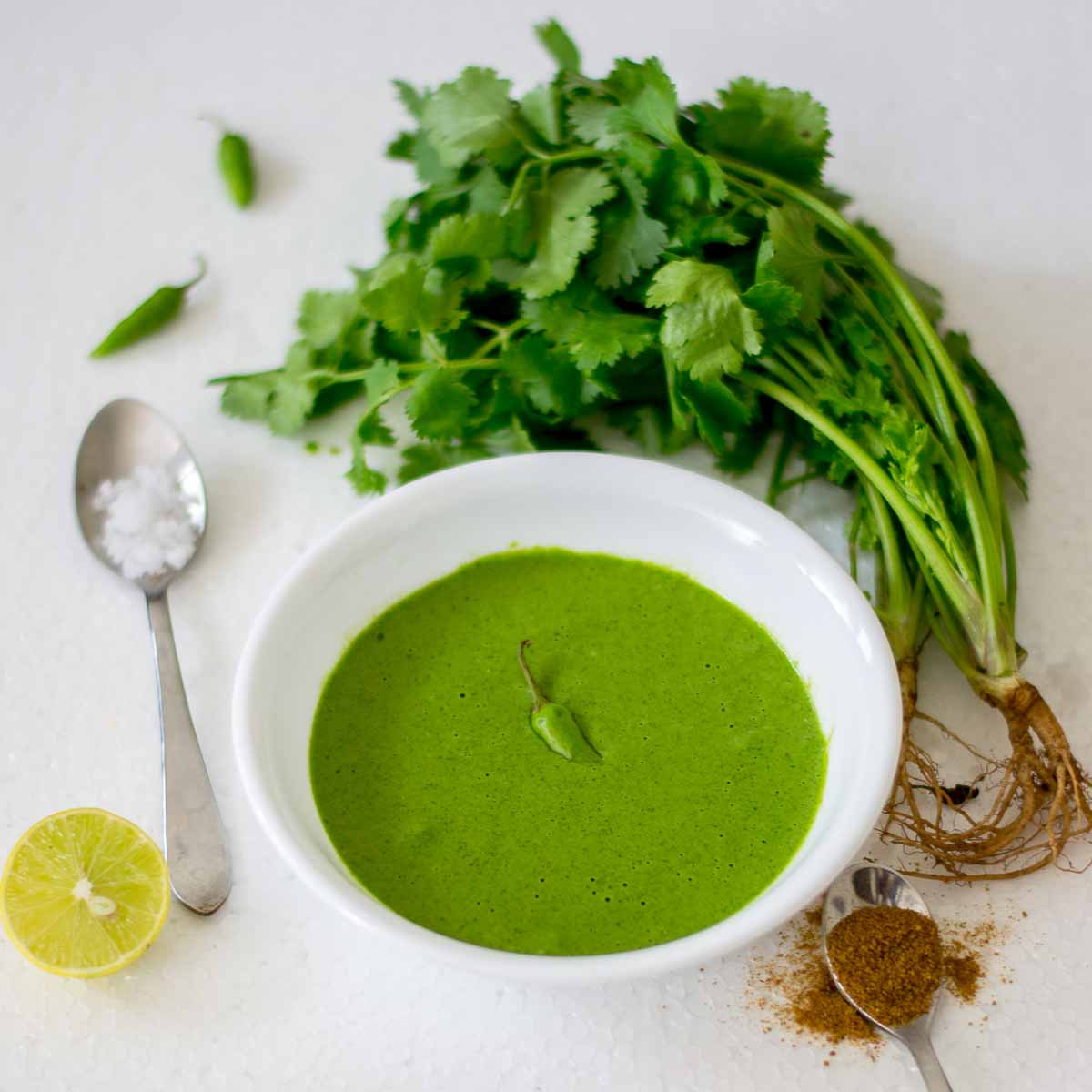 mint-chutney, Indian oven